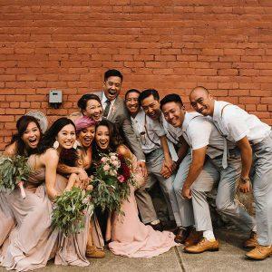 Asian Wedding Party Photo
